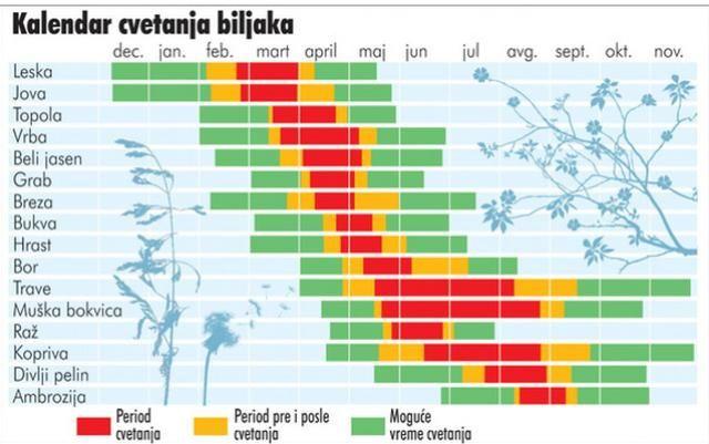Kalendar cvetanja biljaka